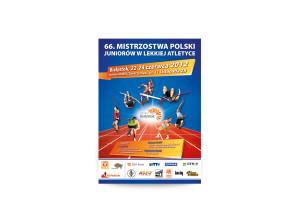 plakat 66. mistrzostw polski juniorów w lekkiej atletyce Białystok